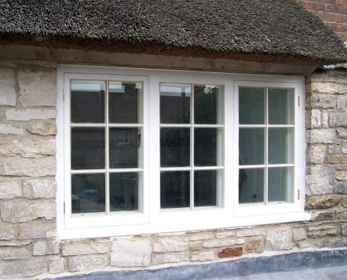 A casement window (or casement) is a window that is attached to its frame by one or more hinges.